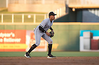 AZL White Sox shortstop Lency Delgado (10) during an Arizona League game against the AZL Indians 1 at Goodyear Ballpark on June 20, 2018 in Goodyear, Arizona. AZL Indians 1 defeated AZL White Sox 8-7. (Zachary Lucy/Four Seam Images)