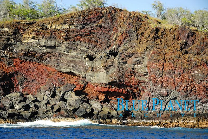 Cruising the Kona coast, Cliff resembles a face, View from a boat, Hualalai volcano, Kailua Kona, The Big Island of Hawaii