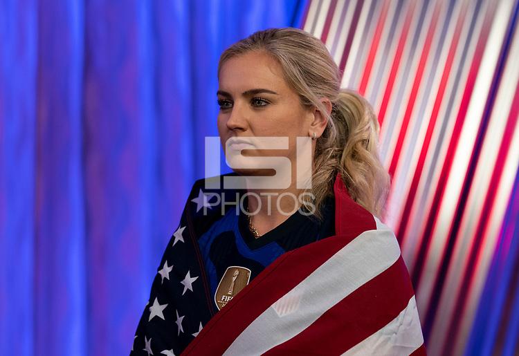 ORLANDO, FL - FEBRUARY 28: Lindsey Horan #9 poses at studio on February 28, 2020 in Orlando, Florida.