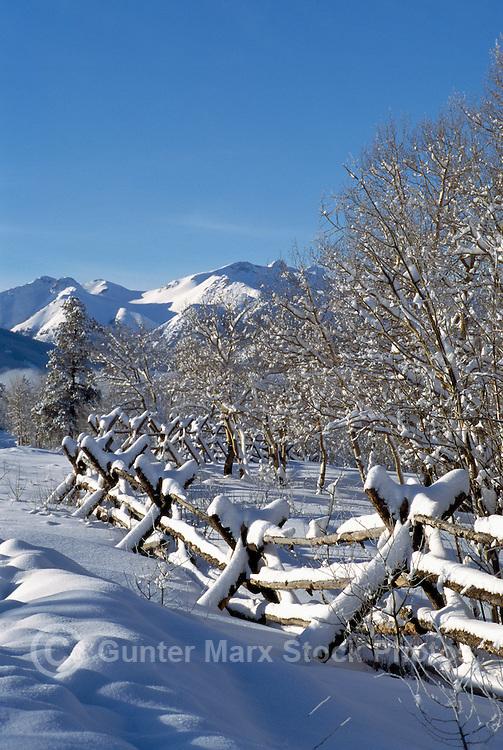 Nemaiah (Nemiah) Valley and Coast Mountains, Cariboo Chilcotin Coast Region, BC,  British Columbia, Canada - Winter