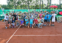 August 9, 2014, Netherlands, Rotterdam, TV Victoria, Tennis, National Junior Championships, NJK,  Prize giving, Richard Krajicek with all the winners<br /> <br /> Photo: Tennisimages/Henk Koster