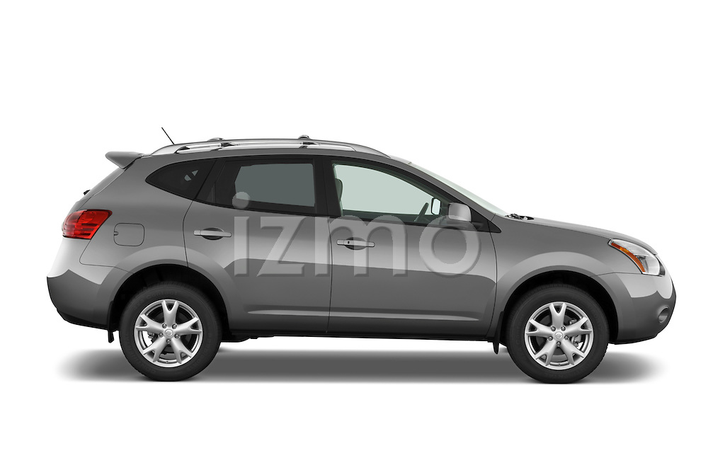 Passenger side profile view of a 2009 Nissan Rogue SL.