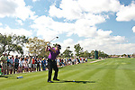 PALM BEACH GARDENS, FL. - Robert Allenby tees off on hole 11 during Round Two play at the 2009 Honda Classic - PGA National Resort and Spa in Palm Beach Gardens, FL. on March 6, 2009.