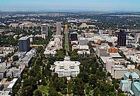 aerial photograph State Capitol building, Sacramento, California