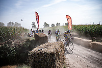 Edward Planckaert (BEL/Sport Vlaanderen-Baloise) in front<br /> <br /> Antwerp Port Epic 2020 <br /> One Day Race: Antwerp to Antwerp 183km; of which 28km are cobbles and 35km is gravel/off-road<br /> Bingoal Cycling Cup 2020