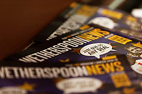 Wetherspoon News magazine at the David Protheroe public house in Neath, Wales, UK. Tuesday 15 January 2019