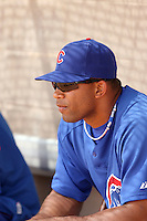 Smaily Burgos, Chicago Cubs, 2010 minor league spring training.Burgos recently signed with the Cubs after leaving his native Cuba..Photo by:  Bill Mitchell/Four Seam Images.