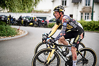Primoz Roglic (SVN/Jumbo-Visma) clearly showing his scars post-finish after crashing late in the race <br /> <br /> Stage 3 from Lorient to Pontivy (183km)<br /> 108th Tour de France 2021 (2.UWT)<br /> <br /> ©kramon