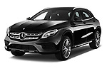 2017 Mercedes Benz GLA AMG Line 5 Door SUV angular front stock photos of front three quarter view