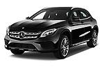 2017 Mercedes Benz GLA AMG Line 5 Door SUV angular front stock photos of front three quarter view