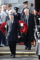 ***NO UK*** REF: MTX 193994 - Leader of the Labour Party Jeremy Corbyn, British Prime Minister Boris Johnson and Leader of the Liberal Democrats Jo Swinson attend the annual Remembrance Sunday memorial at The Cenotaph in London, England.  NOVEMBER 10th 2019. Credit: Trevor Adams/Matrix/MediaPunch