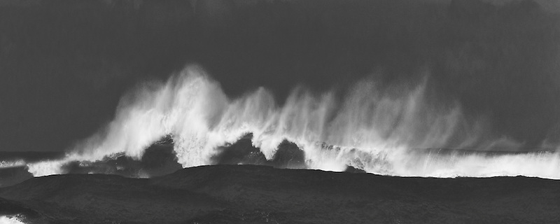 Large storm waves off Kauai coast. Hawaii.