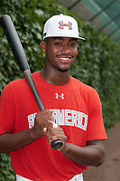 Jordon Adell (45) of Ballard High School in Prospect, Kentucky poses for a photo before the Under Armour All-American Game presented by Baseball Factory on July 23, 2016 at Wrigley Field in Chicago, Illinois.  (Mike Janes/Four Seam Images)