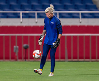 SAITAMA, JAPAN - JULY 24: Jane Campbell #22 of the USWNT warms up before a game between New Zealand and USWNT at Saitama Stadium on July 24, 2021 in Saitama, Japan.