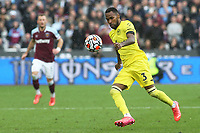 Rico Henry of Brentford in action during West Ham United vs Brentford, Premier League Football at The London Stadium on 3rd October 2021