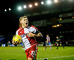 Martyn Waghorn scores from the penalty spot and celebrates
