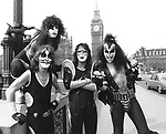 Kiss 1976 Peter Criss, Paul Stanley, Ace Frehley and Gene Simmons.© Chris Walter.