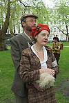 The Tweed Run London UK. Interview with Francesca Harms and John Macksmith
