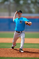 Miami Marlins pitcher Jake Walters (13) during a Minor League Extended Spring Training game against the New York Mets on April 12, 2019 at First Data Field Complex in St. Lucie, Florida.  (Mike Janes/Four Seam Images)