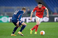 18th February 2021, Rome, Italy;  Pizzi of SL Benfica competes for the ball with Martin Odegaard during the UEFA Europa League round of 32 Leg 1 match between SL Benfica and Arsenal at Stadio Olimpico, Rome, Italy on 18 February 2021.