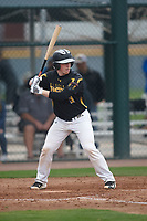 JD Hamby (9) of Pinedale High School in Cora, Wyoming during the Under Armour All-American Pre-Season Tournament presented by Baseball Factory on January 14, 2017 at Sloan Park in Mesa, Arizona.  (Kevin C. Cox/MJP/Four Seam Images)