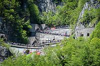 the Passo di San Boldo<br /> <br /> Stage 19: Treviso to San Martino di Castrozza (151km)<br /> 102nd Giro d'Italia 2019<br /> <br /> ©kramon