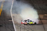Feb 07, 2009; Daytona Beach, FL, USA; NASCAR Sprint Cup Series driver Greg Biffle (16) spins during the Bud Shootout at Daytona International Speedway. Mandatory Credit: Mark J. Rebilas-