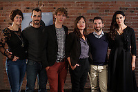 FILE PHOTO - Pascale Bussiere (L)<br /> Monica Belluci (R)   and the cast of Ville-Marie, in 2015