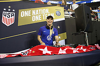 CHARLOTTE, NC - OCTOBER 3: Disc Jockey during a game between Korea Republic and USWNT at Bank of America Stadium on October 3, 2019 in Charlotte, North Carolina.