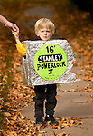 Denver, Colorado.  October 12, 2004}   Halloween costumes.  Tape measure is Jack Stade, 3, from Lafayette.  (Photo by Ellen Jasko/Rocky Mountain Newsl)