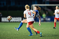 Boston, MA - Friday July 07, 2017: Alyssa Mautz and Morgan Andrews during a regular season National Women's Soccer League (NWSL) match between the Boston Breakers and the Chicago Red Stars at Jordan Field.