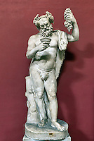 Marble statue of a drunken Silenus, Pio-Clementine Museum, Room of Muses, Vatican Museums, Rome, Italy