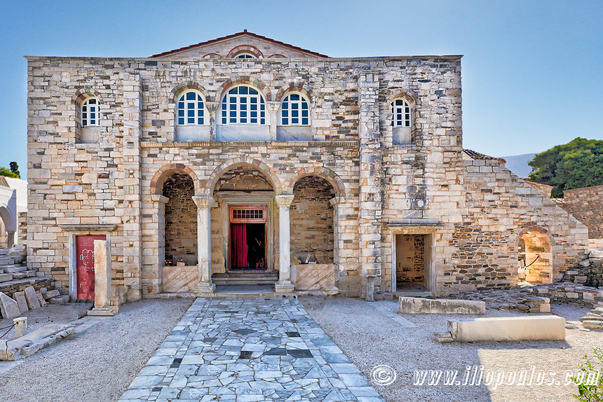 The Monastery of Panagia Ekatontapiliani in Paroikia of Paros, Greece