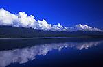 View toward upper end of Lake Quinault at Dusk. Olympic Peninsula