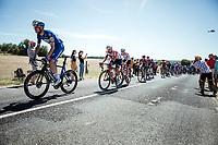 Kasper Asgreen (DEN/Deceuninck Quick Step) in front of the Peloton up the cote de Rosière<br /> <br /> Stage 4: Reims to Nancy (215km)<br /> 106th Tour de France 2019 (2.UWT)<br /> <br /> ©kramon