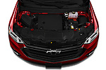 Car Stock 2020 Chevrolet Traverse Premier 5 Door SUV Engine  high angle detail view
