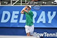 DELRAY BEACH, FLORIDA - JANUARY 13: Hubert Hurkacz of Poland Vs Sebastian Korda during the Finals of the Delray Beach Open at Delray Beach Tennis Center on January 13, 2021 in Delray Beach, Florida.. Credit: mpi04/MediaPunch