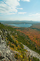 The cliffs atop of Brousseau Mtn. yield a birds eye view of Little Averill Lake in Vermonts north country.