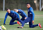 01.03.2019: Rangers training: James Tavernier and Alfredo Morelos