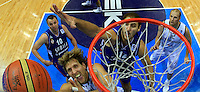 Germany natioanal basketball team player Dirk Nowitzki scores during round 1, Group B, basketball game between Germany and Serbia in Lithuania, Siauliai, Siauliu arena, Eurobasket 2011, Sunday, September 4, 2011. (photo: Pedja Milosavljevic/STARSPORT).