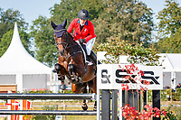 AUT-Katrin Khoddam-Hazrati rides Oklahoma 2 during the Showjumping for the CCIO4*-S FEI Nations Cup Eventing. 2021 BEL-Concours Complet Arville. Saturday 21 August 2021. Copyright Photo: Libby Law Photography