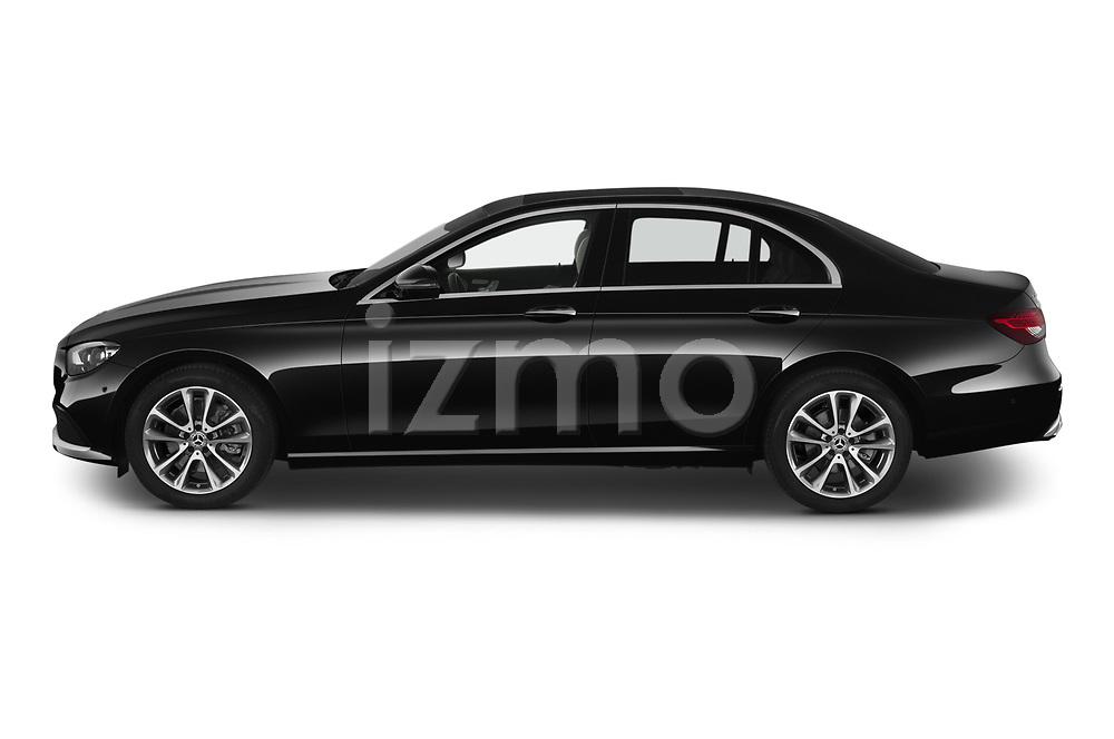 Car Driver side profile view of a 2021 Mercedes Benz E-Class Avantgarde 4 Door Sedan Side View