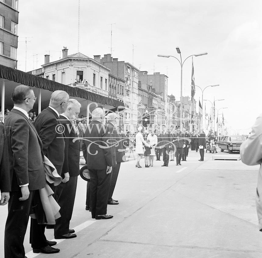 Juni 1969. Opening tunnel.  31 mei 1969. Feestelijke opening van de Kennedytunnel in Antwerpen.