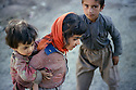 Iran 1983  .Children in a village of Sardasht district, near the Iraqi border.Iran 1983 .Enfants dans un village de la regionde Sardasht , pres de la frontiere irakienne
