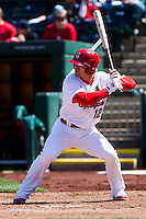 Tyler Henley (12) of the Springfield Cardinals at bat during a game against the Springfield Cardinals on April 16, 2011 at Hammons Field in Springfield, Missouri.  Photo By David Welker/Four Seam Images.