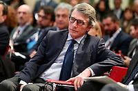 David Sassoli, President of the European Parliament<br /> Rome February 7th 2020. Tempio di Adriano. Meeting on the European balance.<br /> Foto Samantha Zucchi Insidefoto