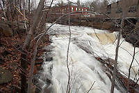 Whitman River cascade, Fitchburg, MA paper mill