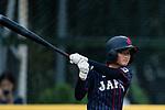 #11 Matsushima Runa of Japan bats during the BFA Women's Baseball Asian Cup match between Pakistan and Japan at Sai Tso Wan Recreation Ground on September 4, 2017 in Hong Kong. Photo by Marcio Rodrigo Machado / Power Sport Images