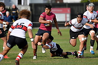 Jarius Iosefa of Kings College runs with the ball  during the College 1st XV Rugby - Scots College v Kings College at Scots College, Wellington, New Zealand on Saturday 8 May 2021.<br /> Copyright photo: Masanori Udagawa /  www.photosport.nz
