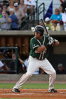 Greensboro Grasshoppers outfielder Brent Keys #20 at bat for the Northern division team in the South Atlantic League All-Star game held at the Joseph P. Riley Jr.Ballpark in Charleston, South Carolina on June 19th, 2012. The Northern division defeated the Southern division by the score of 3-2. (Robert Gurganus/Four Seam Images)
